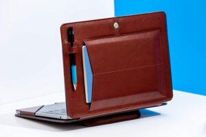 Bluebonnet Leather MacBook Case